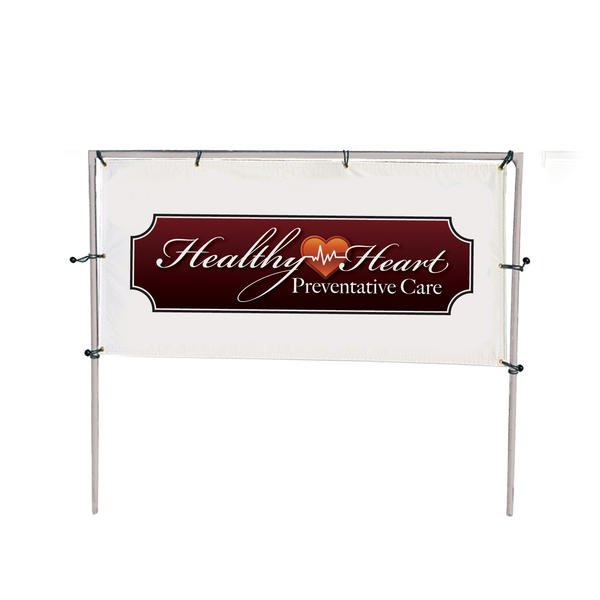 10w x 5h in ground single banner frame kit