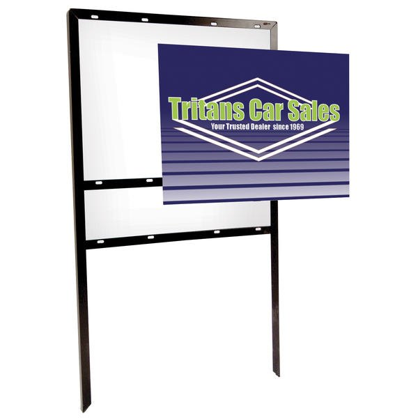 24 x 18 Angle Iron Frame Double-Sided Replacement Graphic
