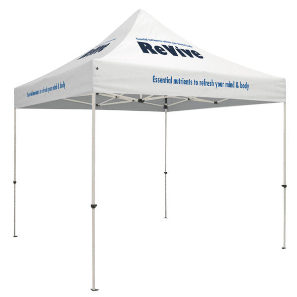 Standard 10 x 10 Event Tent Kit (Full-Color Thermal Imprint, 8 Locations)Soft Case with Wheels and Stake Kit is included