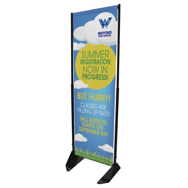 15W x 74H Outdoor Anchored Banner Frame Replacement Graphic