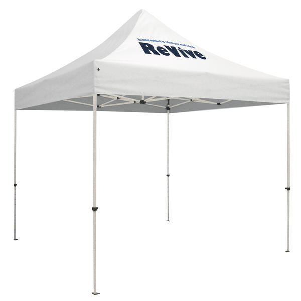 Standard 10 x 10 Event Tent Kit (Full-Color Thermal Imprint, 1 Location)Soft Case with Wheels and Stake Kit is included