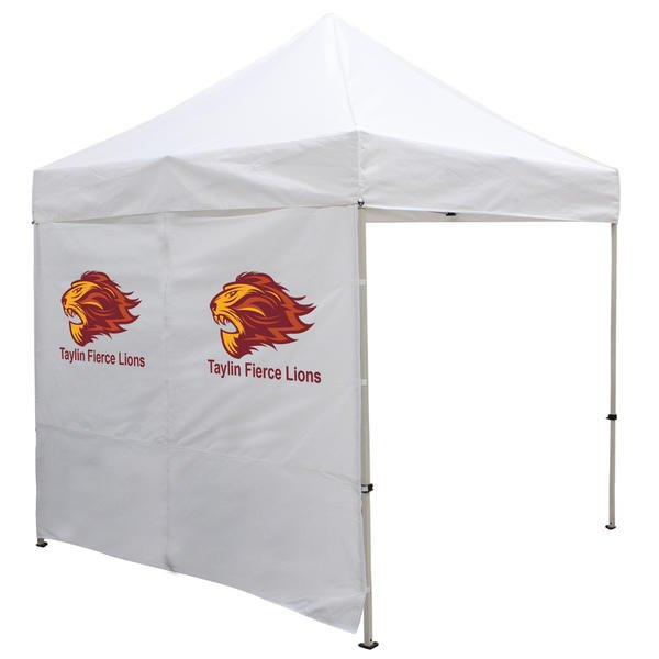 8 Foot Wide Tent Middle Zipper Wall with Zipper Ends – White or Black Only (Full-Color Thermal Imprint)